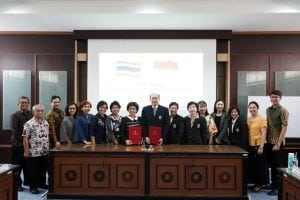 Delegates from the Faculty of Tropical Medicine, Mahidol University with FK-KMK UGM
