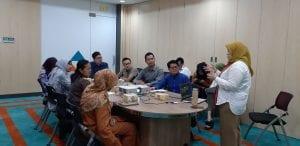 Pemaparan materi di PT Bio Farma Bandung